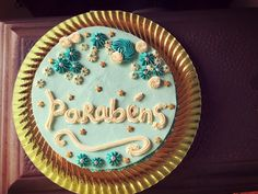 Happy Birthday Blue Cake