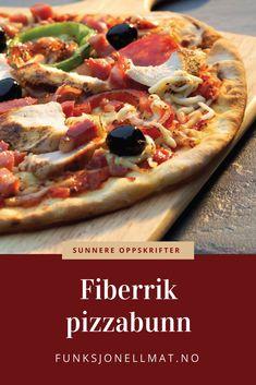 Lag en lys og fin, men allikevel fiberrik pizzabunn med FiberFin i deigen Low Carb Pizza, Vegetable Pizza, Vegetables, Diabetes, Type, Food, Essen, Vegetable Recipes, Meals