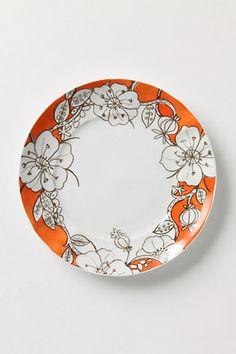 Desertbloom dinner plate by Anthropologie.