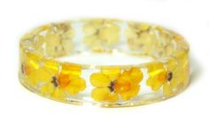 Real Flower Bracelet Flower Jewelry Yellow by ModernFlowerChild