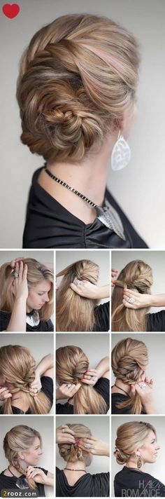 tuto coiffure 2013 33 339x1024 آموزش تصویری بستن مدل مو ساده و شیک دخترانه (4)