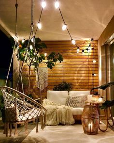 Effective Suggestions for Balcony Decoration; balcony decoration for birthday balcony decoration with lights, balcony decoration ideas for birthday balcony decoration tips 2019 House With Balcony, Small Balcony Decor, Outdoor Balcony, Outdoor Spaces, Outdoor Living, Outdoor Decor, Balcony Bench, Outdoor Carpet, Outdoor Patios
