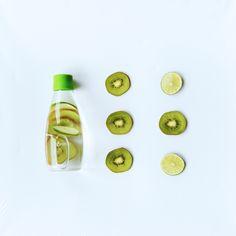 kivi-áztató design üveg palack