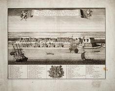 Accurate en origineele afbeeldinge, van Paramaribo, of Nieuw Middelburg, geleegen in de Colonie Zuriname. 17e eeuw