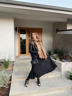 We're in Our 50s, Have Tried a Ton of Basics, and Now Rely on These 8 Easy Items Midi Skirt, Then And Now, Who What Wear, Beautiful Outfits, That Look, Black Leather, Office Skirt, Zara Skirts, Style Inspiration