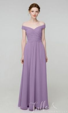 Elegant Long Off Shoulder Chiffon Bridesmaid Dress with pocket TBQP506-Bell Flower#wedding #weddinginspiration #bridesmaids #bridesmaiddresses #bridalparty #maidofhonor #weddingideas #weddingcolors #tulleandchantilly