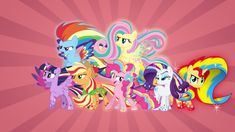 The Rainbow Powered Mane 7 by FavoriteArtMan.deviantart.com on @DeviantArt