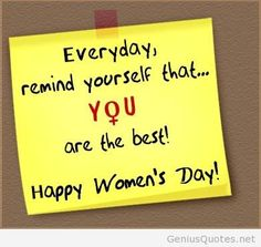 """Here is the list of quotes and messages for International Women's day """"Every man needs a women when his life is a mess, because just like the game of chess - the queen protects the king"""" No matters from which angle I look at you, day quotes Happy Womens Day Quotes, 2017 Quotes, Empowering Women Quotes, Business Professional Outfits, Prayers For Strength, Happy International Women's Day, Dress Clothes For Women, Office Fashion Women, One Liner"""