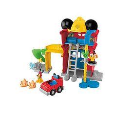 Disney Mickey Mouse Clubhouse Funny Firehouse by Fisher-Price Mickey Mouse Clubhouse Toys, Mickey Mouse Outfit, Mickey Mouse Cartoon, Minnie Mouse Party, Mickey Birthday, Baby Boy Birthday, Toy Story Birthday, Toys For Boys, Kids Toys