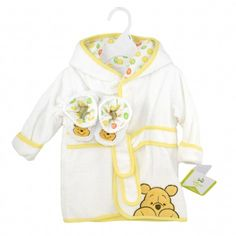 WINNIE THE POOH Robe and Booties Set