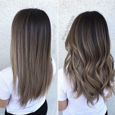 Long Wavy Ash-Brown Balayage - 20 Light Brown Hair Color Ideas for Your New Look - The Trending Hairstyle Rich Brown Hair, Brown Hair Shades, Cool Tone Brown Hair, Light Ashy Brown Hair, Hair Color For Brown Skin, Brown Eyes, Blue Eyes, Ombre Hair Color, Hair Color Balayage
