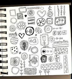 doodles by Lesley Grainger.