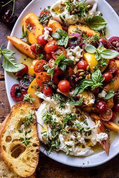 Caprese Chicken Pasta, Cena Light, Burrata Salad, Burrata Cheese, Avocado Pasta, Savory Salads, Cooking Recipes, Healthy Recipes, Half Baked Harvest
