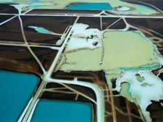 Shelly Mansel's acrylic aerial landscape