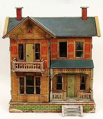I love this antique dollhouse.