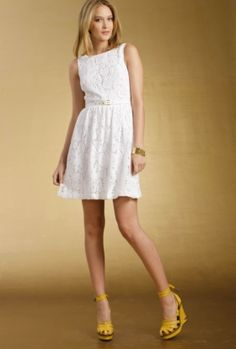 @Liz Rennell. shower-rehearsal-party dress. add nude shoes, gold and turquoise bangles and earrings.