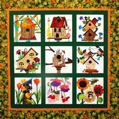 Free Birdhouse Quilt Patterns | made this for my daughter and ... : birdhouse quilts - Adamdwight.com