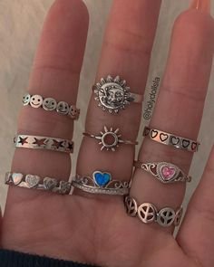 Nail Jewelry, Funky Jewelry, Trendy Jewelry, Dainty Jewelry, Grunge Jewelry, Cute Jewelry, Jewelry Rings, Jewelery, Jewelry Accessories