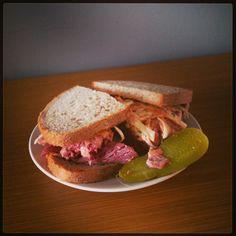 Salt beef sandwich from Monty's Deli