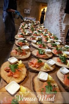 our wooden board plates- great for a rustic starter