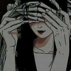 紹介 ₊·₍icons anime g₎⸃⸃ Aesthetic Grunge, Aesthetic Art, Aesthetic Anime, Anime Art Girl, Manga Art, Anime Girls, Character Art, Character Design, Gothic Anime