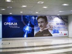 airport advertisement (Belgrade), Serbia land of science and tech
