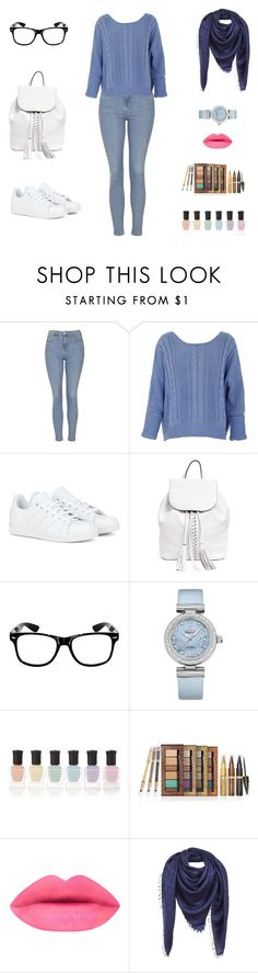 """IT'S Not that cold"" by cori-felton ❤ liked on Polyvore featuring Topshop, adidas, Rebecca Minkoff, OMEGA, Deborah Lippmann, Physicians Formula and Louis Vuitton"