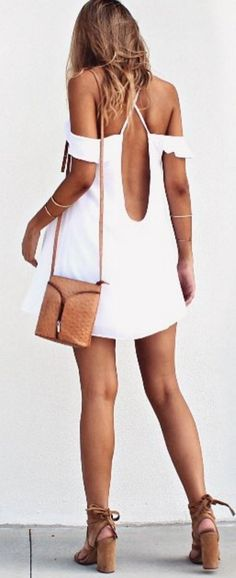 #summer #musthave #outfits | Hot Back Little Dress