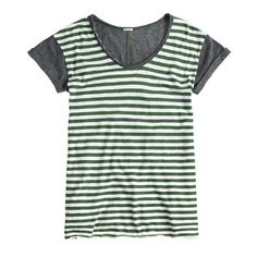 """Back in 2004, we set out to replicate one of our favorite thrift-store tees, and the result is our vintage cotton—famous for its heathered texture and softness. We love this new silhouette for its slightly longer length, rolled sleeves and raw-edged neckline. And since it's so featherweight, we recommend taking extra care when washing. Treat it like you would lingerie (not gym gear). <ul><li>Slightly loose fit.</li><li>Body length: 27 3/4"""".</li><li>Cotton.</li><li>Machine ..."""