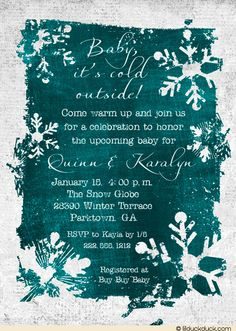 Winter Baby Shower Invite.  LOVE this invite!!!  One of my favorite Christmas songs. lol