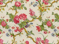 Brunschwig & Fils - COLIGNY GLAZED CHINTZ PINKS ON CREAM BR-79525.015, floral medium, multipurpose