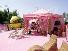Carpa hexagonal para eventos y fiestas elegantes
