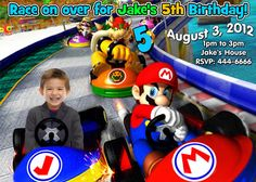Super mario brothers birthday party invitations and party favors on Etsy, $13.99