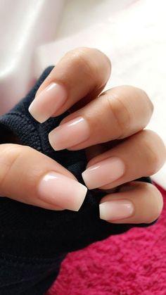 33 Gorgeous Wedding Nail Designs For Brides - blush pink nails, neutral wedding nails, neutral nail art designs Cute Acrylic Nails, Cute Nails, Pretty Nails, Natural Acrylic Nails, Gradient Nails, Short Nails Acrylic, Coffin Nails Short, Squoval Acrylic Nails, Clear Gel Nails