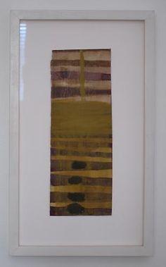 """Mark Goodwin, 2010  Below and Above , gouache, milk paint 10.75"""" x 4"""""""