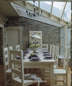 dining room within conservatory extension. my dream room. home decor and interior decorating ideas. home decor and interior decorating ideas. Extension Veranda, Conservatory Extension, Conservatory Kitchen, Conservatory Interiors, Porch Extension, Conservatory Design, Style At Home, Interior And Exterior, Interior Design