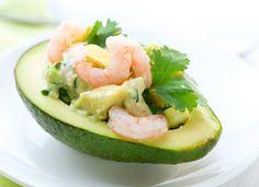 Shrimp in Avocado Boats Mexican Recipe