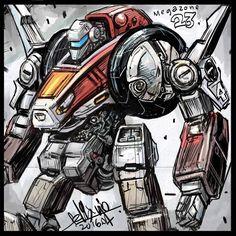 regram @felixipart Love this Garland design from MegaZone23.  #sketch #sketchbook #robotsketch #roboxsketchbook #mecha #robot #mech #megazone23 #garland
