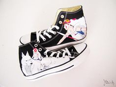 Studio Ghibli hand painted shoes series / Princess Mononoke shoes / Mononoke and Wolf shoes, by Matita's Art