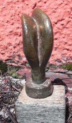 small bronce, living plantform ca. 1989 Art Pieces, The Creator, Vase, Things To Sell, Bronze, Artworks, Art Work, Vases, Jars