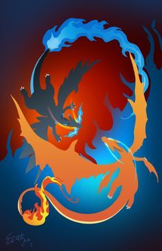 Mega Charizard X and Mega Charizard Y
