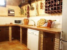 Kitchen Simply Small Rustic Design Ceramic Floor Antique Decor Wine Storage Decoration Faucet.jpg Amazing
