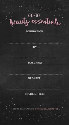 Beauty story template