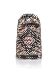 Silver and niello thimble, James I , early 17th century