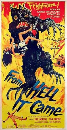 From Hell It Came.  #vintagehorrorscifi