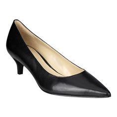 Classic pointy toe pump on low 2'' heel.  This style is available exclusively @ Nine West Stores & ninewest.com.