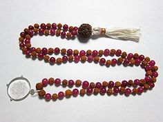 Spiritual Om Pendent Pink Jade Rudraksha Prayer Beads Yoga Japa Mala 108+1 Mogul Interior http://www.amazon.com/dp/B00NONCQAC/ref=cm_sw_r_pi_dp_sL3gub1GANT46