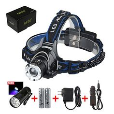 Special Offers - 9 LED Flashlight 1800 Lumens CREE XM-L T6 Led Headlamp3 Modes Zoomable Comfortable Wearing  Hands-free Head light-For Camping Biking Working Hunting Fishing Riding Camping Walking ;Led headlight Wth 2 Rechargeable 18650 Batteries  Car Charger - In stock & Free Shipping. You can save more money! Check It (April 26 2016 at 10:06AM)…