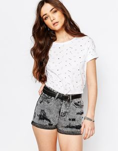 Pull&Bear All Over Symbolic Printed T-Shirt