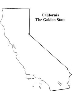 California State Map Outline Sketch Coloring Page